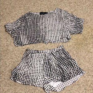 Shorts and crop top set